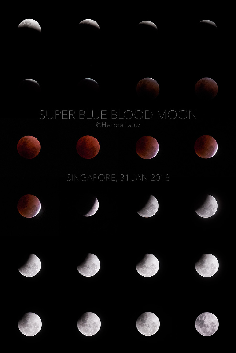 Super blue blood moon 2018 in Singapore by Hendra Lauw